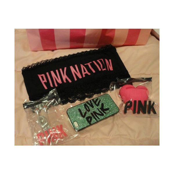 Victoria's Secret Pink Heart Bandeau iPhone 5 Speaker Earbuds Pink... via Polyvore