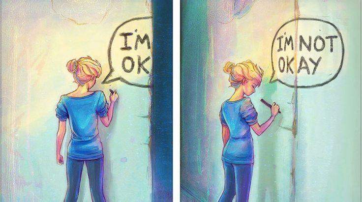 Esclarecedoras ilustraciones sobre los signos de los conflictos generados por la salud mental