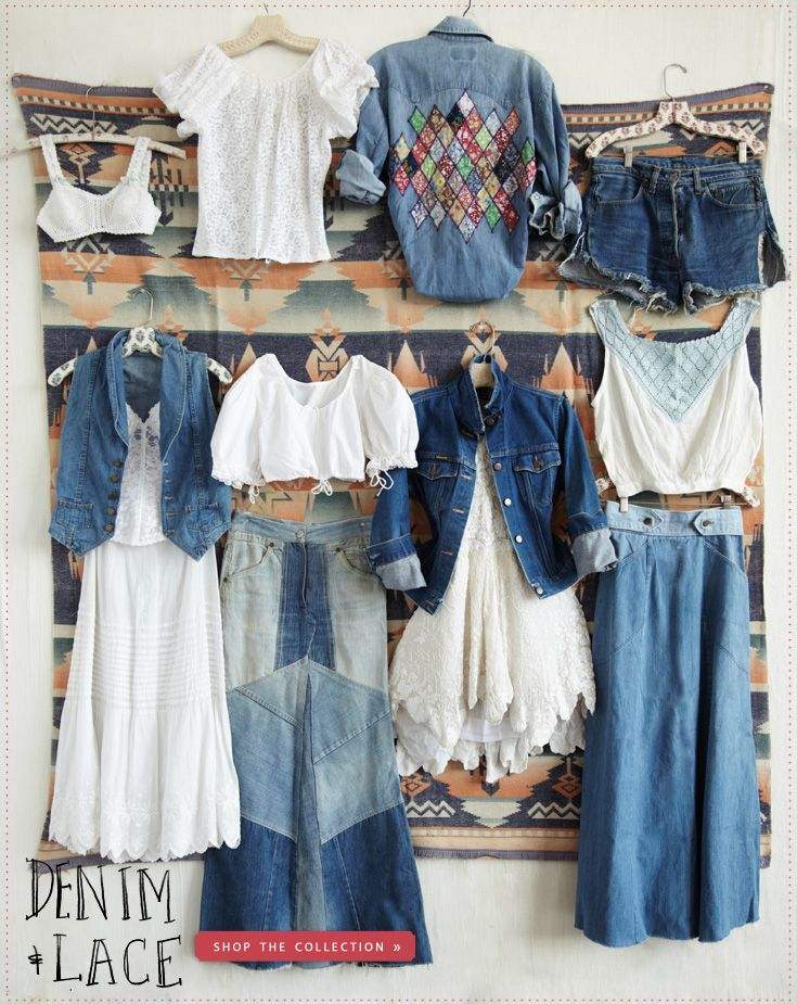 Collection  headphone store Free People  People  amp  www freepeople com Tina    Vintage online and Lace Loves Our Lace Denim   New