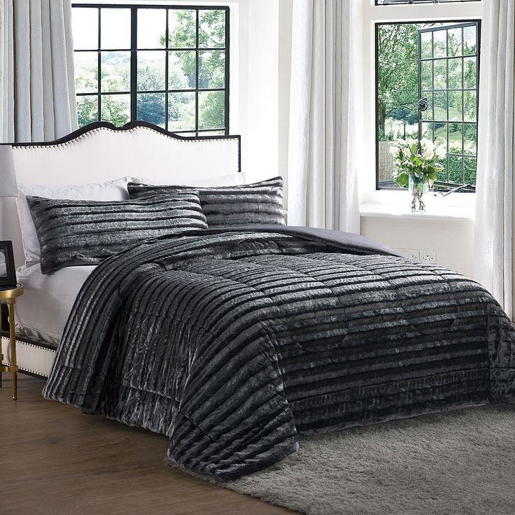 Found it at AllModern - Faux Fur Comforter  $67