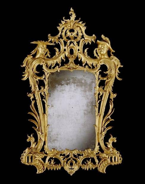 A HIGHLY IMPORTANT GEORGE II GILTWOOD MIRROR - English Antique Furniture – Ronald Phill...
