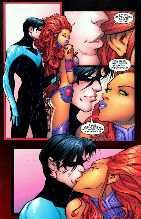 Nightwing and Starfire.♡
