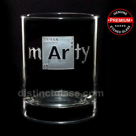 Set of 2 Personalized Breaking Bad inspired whiskey glasses for all Breaking Bad Fans. 2 Whiskey Glasses with a name etched on each (first or last