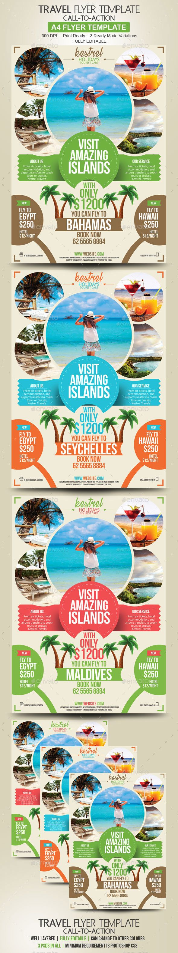 Travel Flyer Template PSD - Holidays Events
