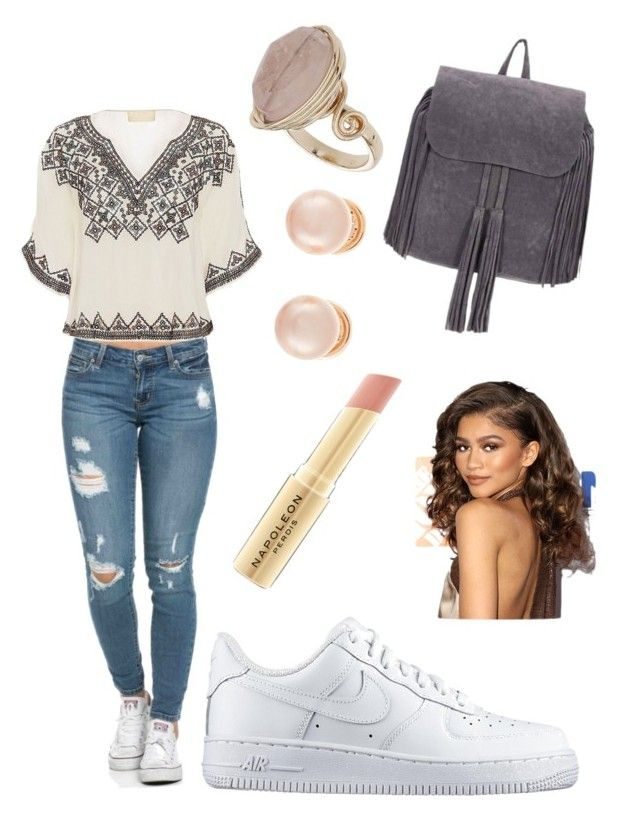 """""""Day out"""" by fashion-girl-katrina on Polyvore featuring Love Sam, NIKE, Topshop, Kenneth Jay Lane and Napoleon Perdis"""