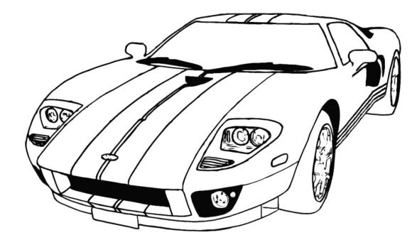 Lamborghini Free Coloring Page