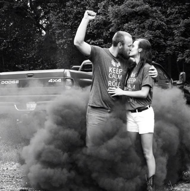Diesel truck engagement pictures! We sooooooooo rocked this picture!! What a great idea!!! Thanks again Allison for posting it!!! :D
