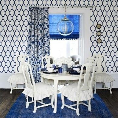 Mavi ve Beyaz kullanılarak dizayn edilmiş evler...