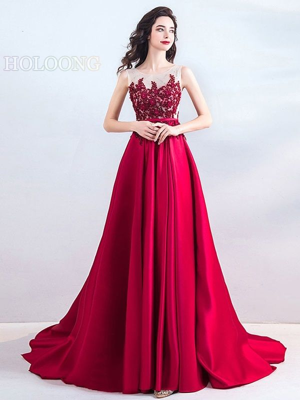 6a156f96c Winter Evening dress Embroidered Toast formal Gauze Chinese Red Wedding  Dresses