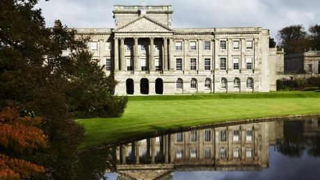The famous lake at the front of Lyme Park, Cheshire