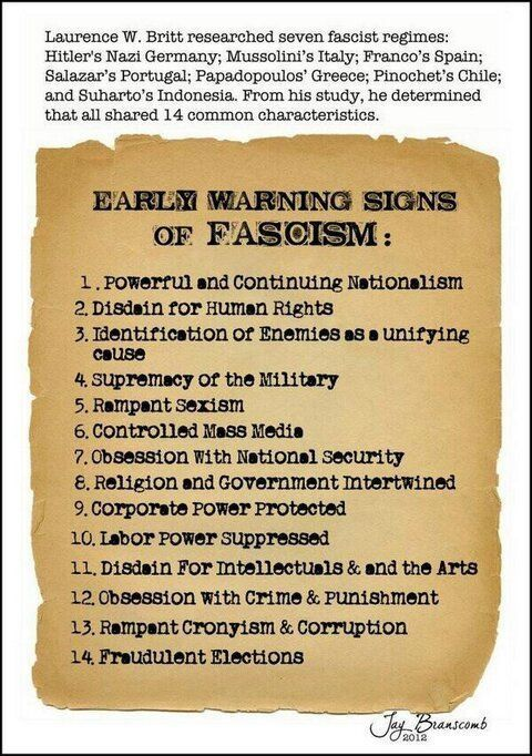 The COALITION GOVERNMENT IS A TRUE EXAMPLE OF WHAT CONSTITUTES A FASCIST STATE . IT'S TIME TO GO BACK TO DEMOCRACY.  WE MUST VOTE THEM OUT AND SEND THEM ON A ONE WAY TICKET TO POLITICAL OBLIVION