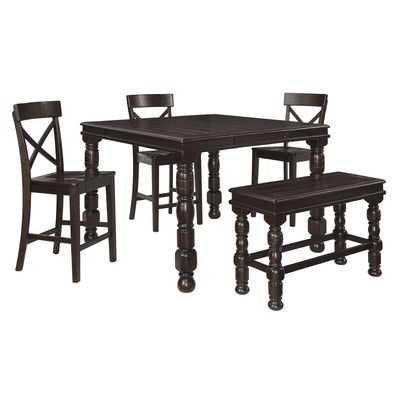 Shop For The Signature Design By Ashley Gerlane Counter Table Set With Bench At Furniture Mattress