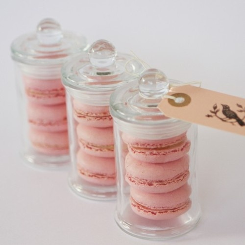 Lovely Idea for a Party Favor, Macarons in a Pretty Jar