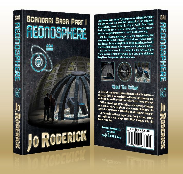 Tom Scandari and Annie Wynbergh return in a thrilling, Science Fiction series. This first adventure sees the two intrepid explorers' team up with Mervin and Albert, in order to unleash the incredible potential of the enigmatic Aeonosphere, which lies hidden, below the city. Tom travels back through time to prevent devastating changes, masterminded by a greedy consortium based in Johannesburg.