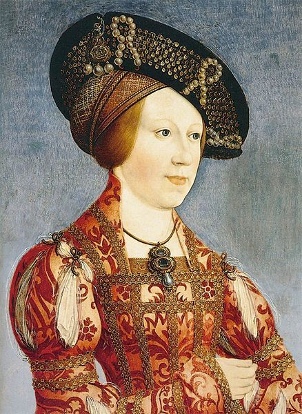 Ana de Bohemia y Hungría, Hans Maler zu Schwaz, wife of Fernando I.  Elder child and only daughter of king Vladislaus II of Bohemia and Hungary (1456–1516) and his third wife Anne of Foix-Candale. She was an older sister of Louis II of Hungary and Bohemia, and his eventual heiress.: