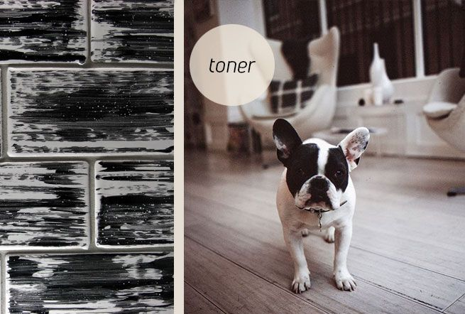 Toner, black and white hand glazed tiles. Made in New Zealand by Middle Earth Tiles.