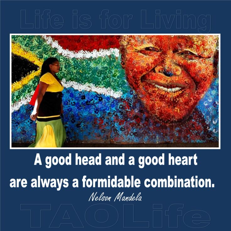 "Thinking of you Nelson Mandela. ""A good head and a good heart are always a formidable combination"" #Mandela #africa"