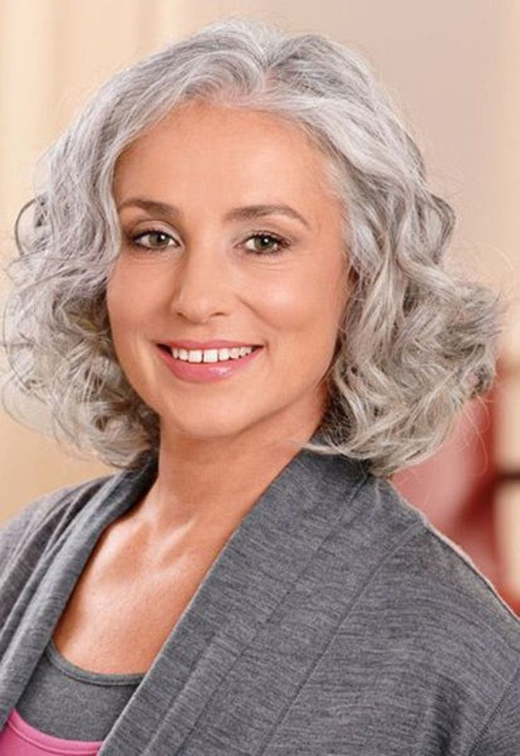 cute short haircuts grey hair