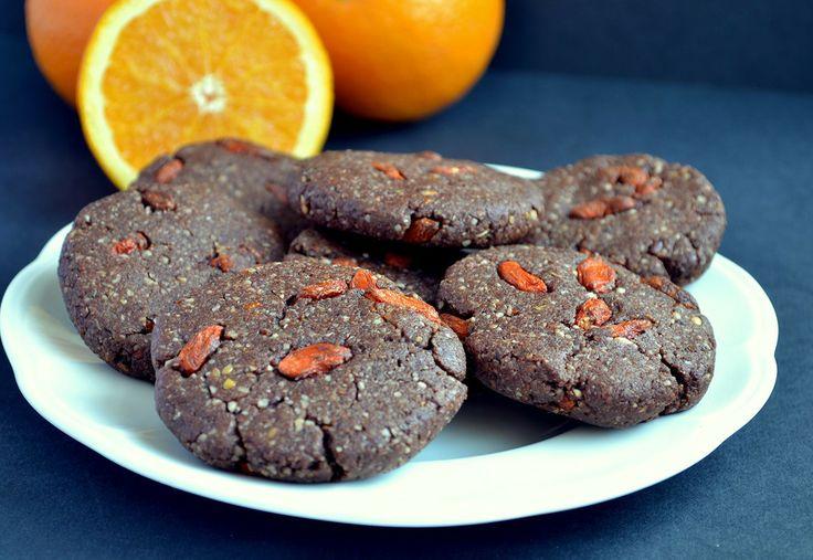 Chocolate-Orange-Goji Cookies   Cookies   Pinterest