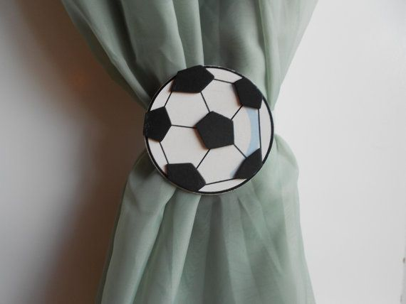 Soccer Curtain Tie Backs  Sports Themed Nursery by TonyaandJoshua, $13.80