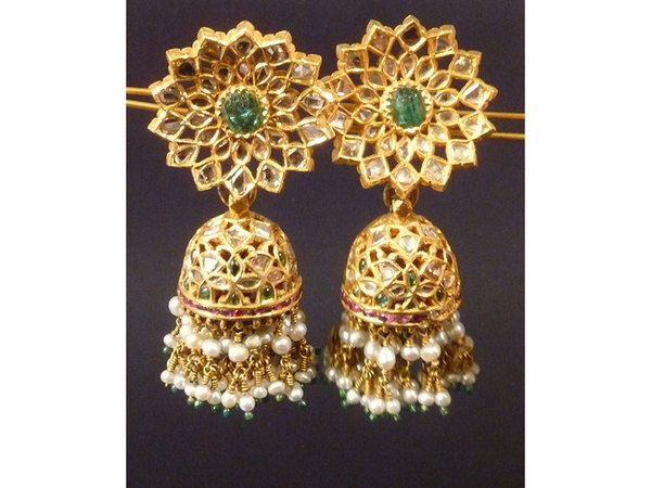 84 best Polki chand balas & earings images on Pinterest | Indian ...