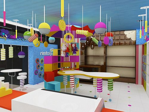Candy and chocolate shop dise o de tiendas muebles para for Puerta willy wonka
