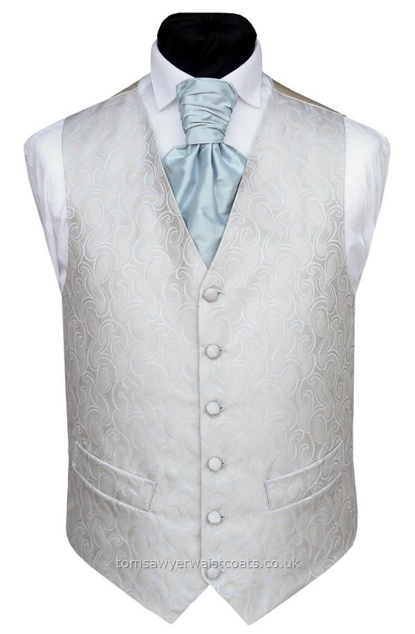 POWDER BLUE And Oyster Waistcoat - Wedding Waistcoats Mens Outfitters Blue Waistcoats Buy UK