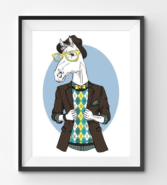 Male Horse Animal Print Fashion Animal Horse Digital Print