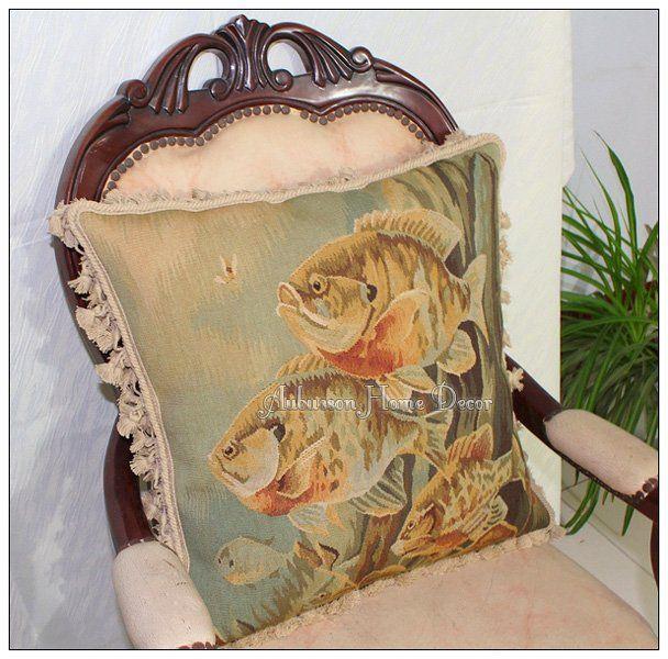 Aliexpress.comの から の中の海の魚のオービュッソンタペストリーフリー船枕クッション! 大きなソファ座椅子$600家庭用品