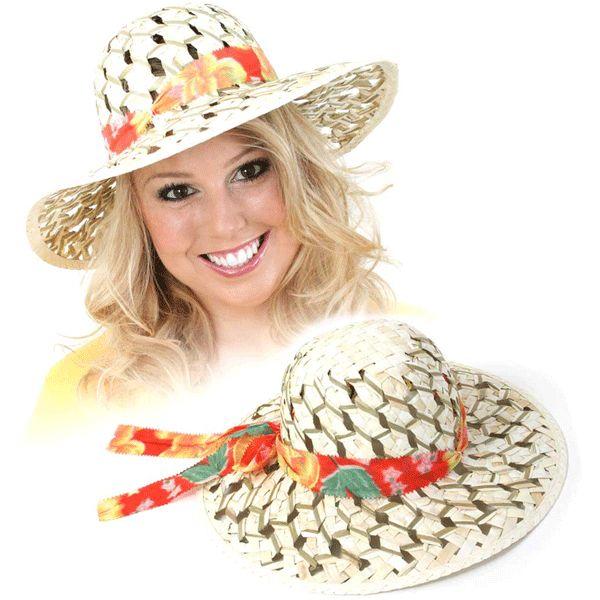 Tropische stro hoed met gaatjes. Hawaii of tropisch feestje? Bij Fun en Feest vind je de leukste Hawaii feestartikelen, kostuums en accessoires. Toppers Crazy Summer hoedje tip!