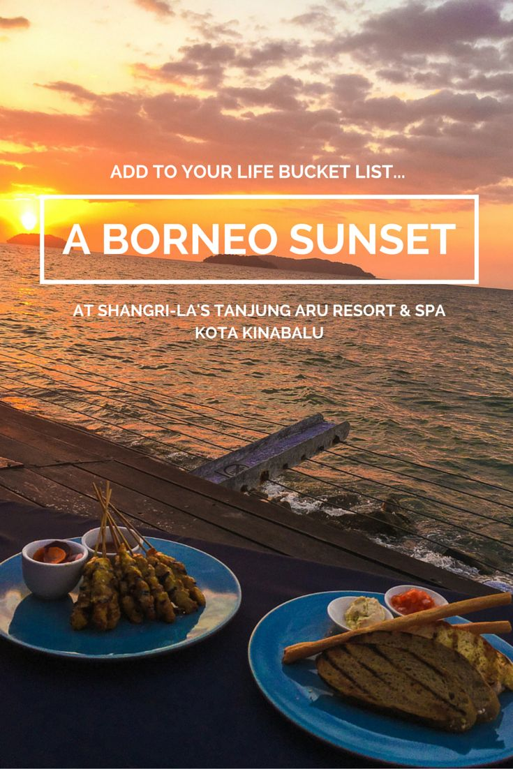 Add a sunset in Borneo to your life bucket list. The Sunset Bar at Shangri'la's Tanjung Aru Resort in Spa is one of the best in Kota Kinabalu.