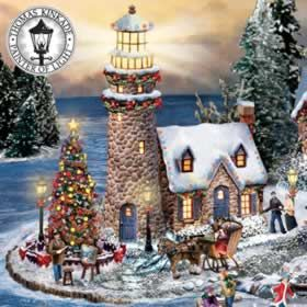Thomas Kinkade Seaside Christmas Village Subscription Plan