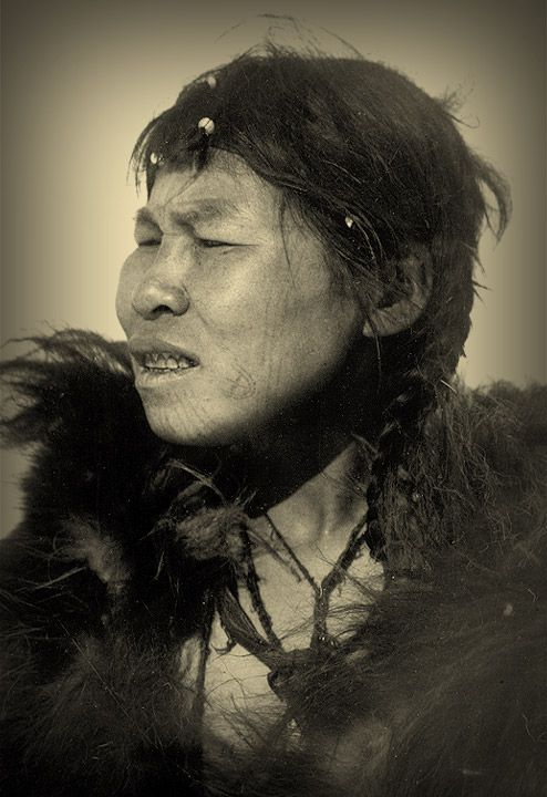 Charmed Tattoos. Chukchi woman with three fertility tattoos on cheek and a cruciform tattoo foil marking the corner of her mouth that was intended as a charm against evil spirits.