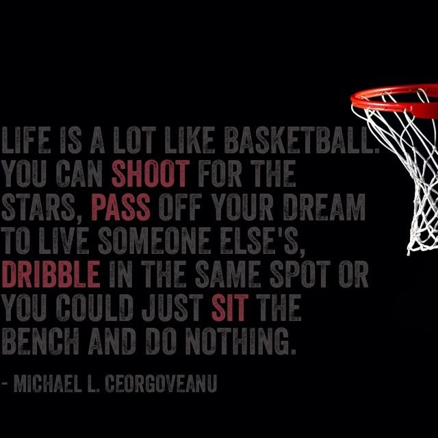 Life is a game of Basketball. You gotta play to win!!