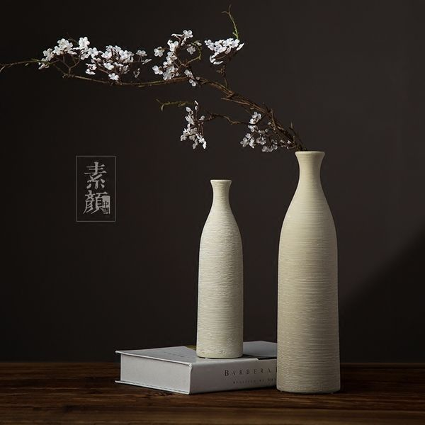 Японские дзен китайские американские ручной работы декоративные аксессуары для дома украшения цветы в керамические вазы минималистский ресторана