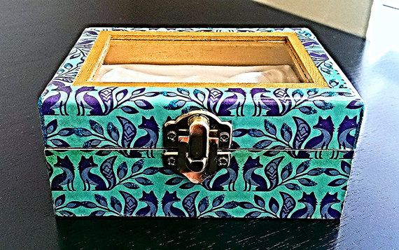 Hey, I found this really awesome Etsy listing at https://www.etsy.com/listing/222337643/small-jewelry-box-in-teal-and-purple