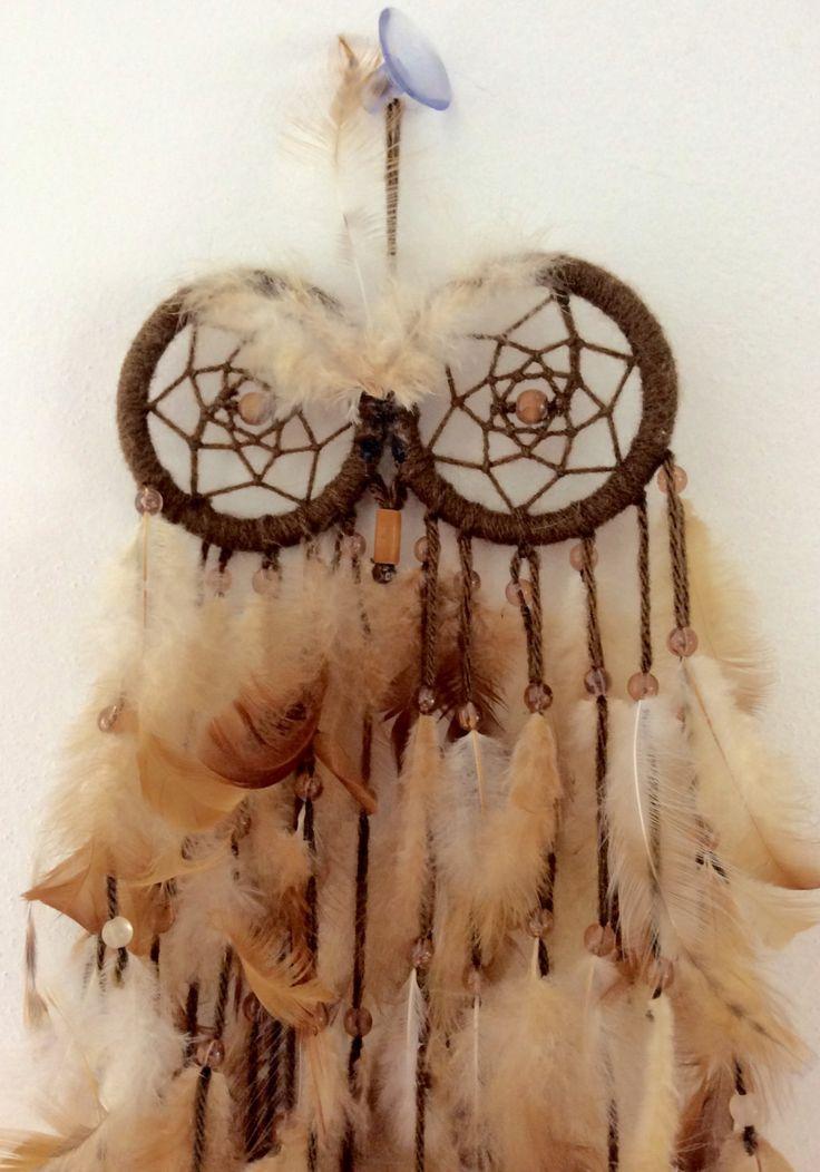 üppiger Traumfänger mit Eulen Augen/Dreamcatcher Natur braun Federn Esotherik Glaube hängen Garten Dekoration Indianer Schmuck Träume fangen von FKBMartandaccessory auf Etsy