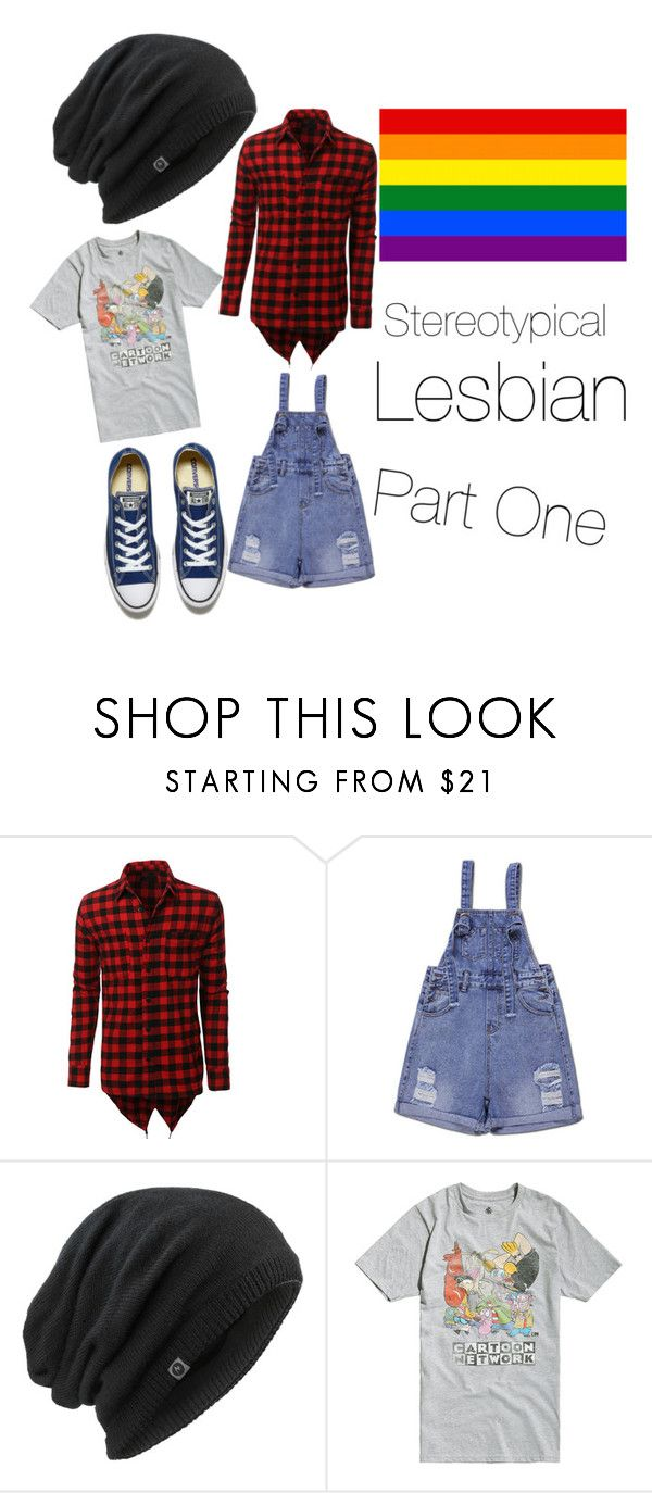 """Stereotypical Lesbian Pt. 1"" by jazzytrumpeter ❤ liked on Polyvore featuring LE3NO, Marmot, Cartoon Network, Converse and Lesbian"