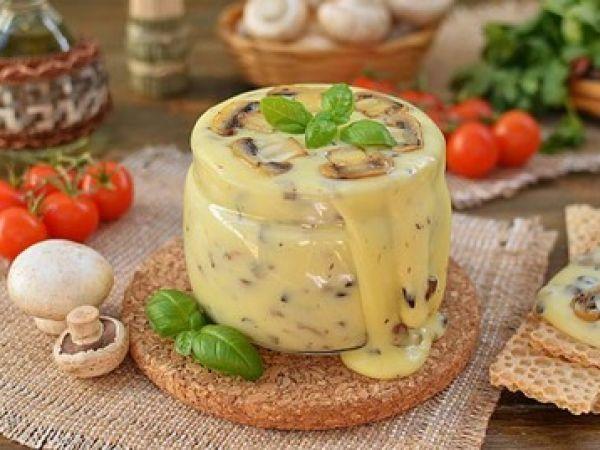 Домашний плавленый сыр с шампиньонами | Vkusno.co - готовим легко!