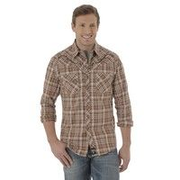 Wrangler Shirts, this is an edgier look to your closet with this modern-styled plaid. Embroidered We