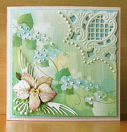 MAART 2013 - Marianne Creatables Design Die Handmade Card