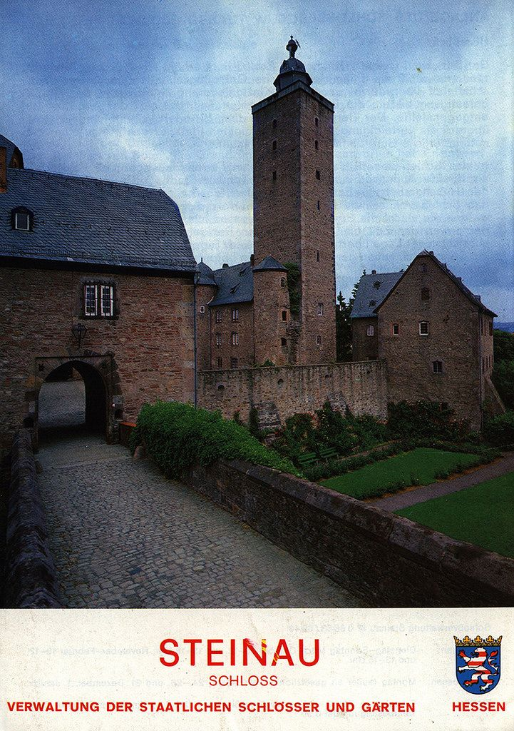 https://flic.kr/p/RNS53L | Schloss Steinau, Verwaltung der Staatlichen Schlösser und Garten; 1987, Steinau an der Straße, Hessen, Germany