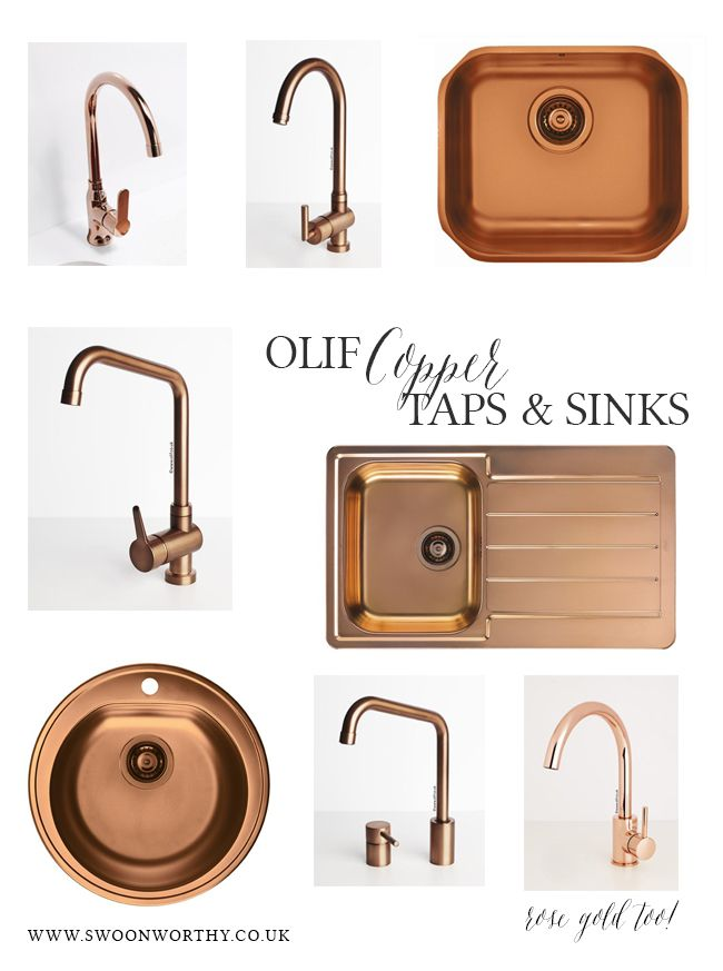 olif-copper-sinks-and-taps  Alveus by Olif who the UK arm of the Italian-manufactured sinks and taps