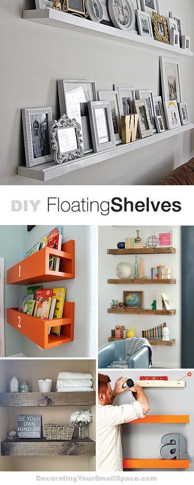 DIY Floating Shelves • Lots of Ideas & Tutorials! #floatingshelves #design