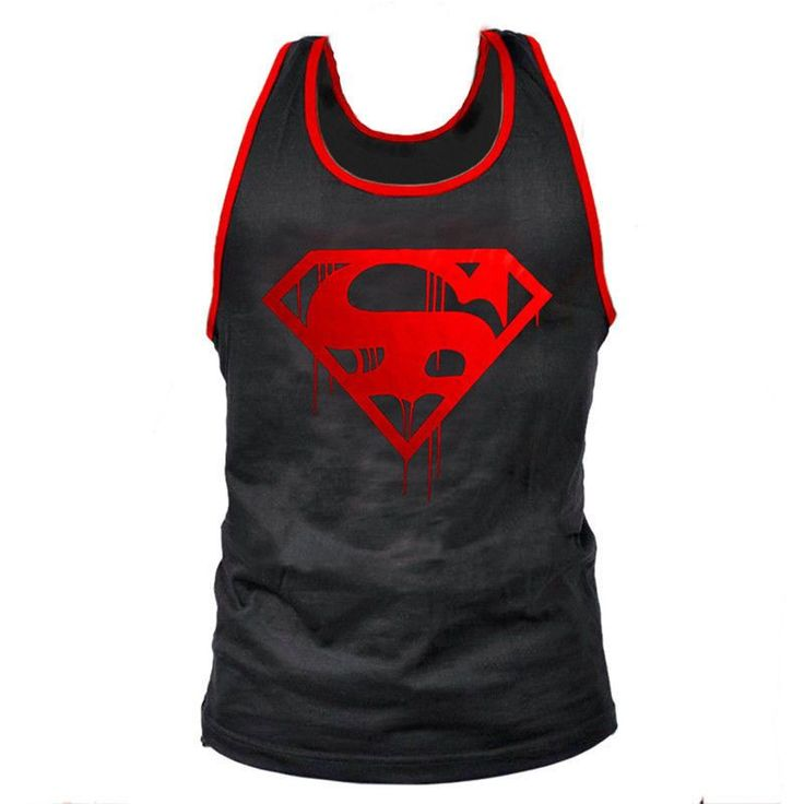 ON SALE Superman Professional Vest Muscle Fitness Mens Bodybuilding Stringer Tank Top Fitness Men 50% OFF PLUS FREE SHIPPING