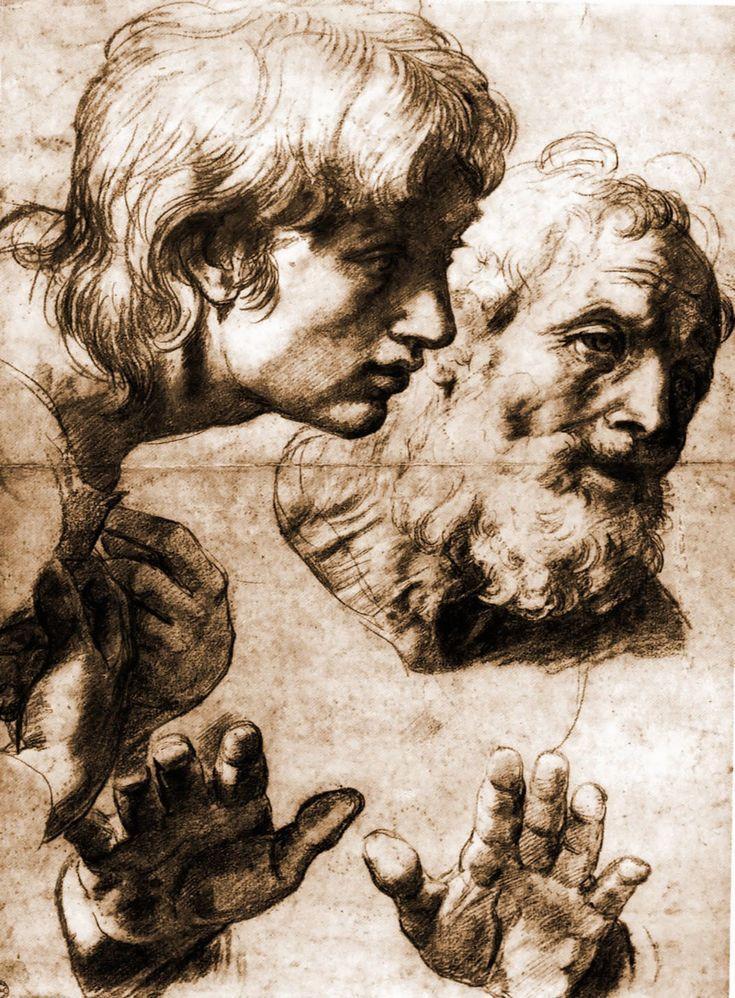 Studies for the Transfiguration - Raphael...