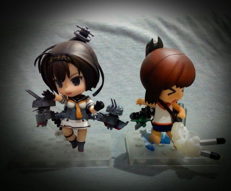 Nendoroid Akizuki and I-401. The cuteness level is amazing. #kancolle #nendoroid #akizuki #i401