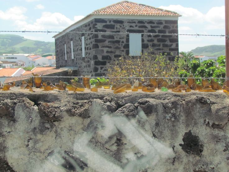 Fence - Sao Miguel - Azores, Portugal -- guess the owners really don't want any visitors  *LOL*