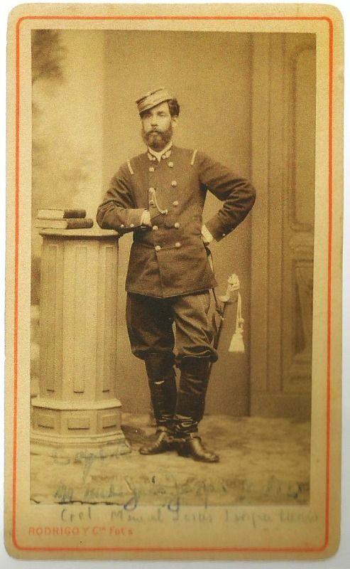Capitán Manuel Jesús Jarpa Merino. Integró el Regimiento de Artillerìa Nº 2 durante la Guerra del Pacìfico y tomò parte en a Batalla de Tacna y en las Batallas de Chorrillos y Miraflores.