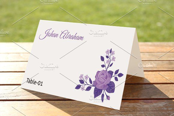 Wedding Place Card Template by Wedding Templates on - place card template